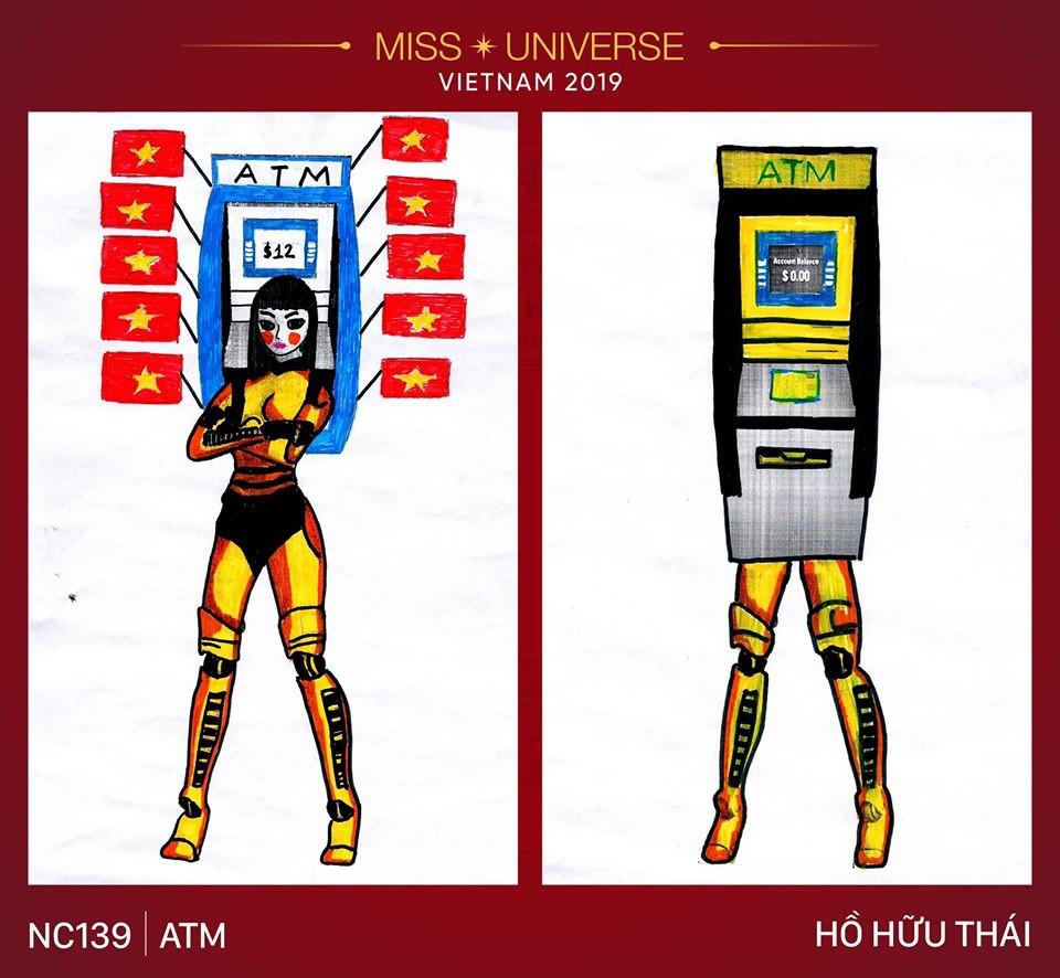 Choáng với loạt ý tưởng trang phục mới dành cho Hoàng Thuỳ dự thi Miss Universe: Từ ninja Lead, heo quay đến cây ATM - Ảnh 4.