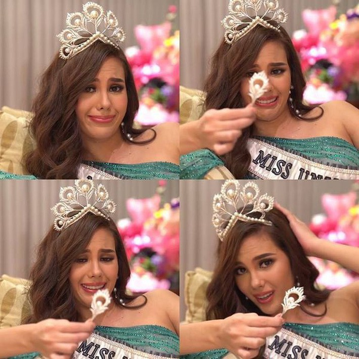 Hoa hậu Catriona Gray đội vương miện fake trong đêm chung kết HH Hoàn vũ Philippines vì lý do dở khóc dở cười - Ảnh 6.