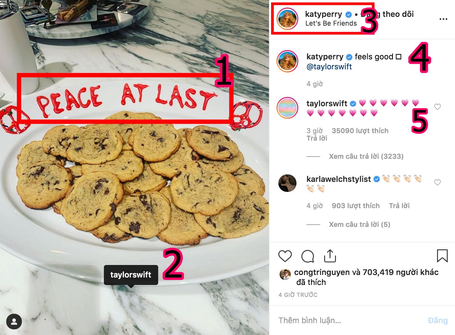 Nhờ dăm ba miếng bánh, Taylor Swift và Katy Perry đã chị em tay bắt mặt mừng lập lại hoà bình rồi đây này! - Ảnh 2.