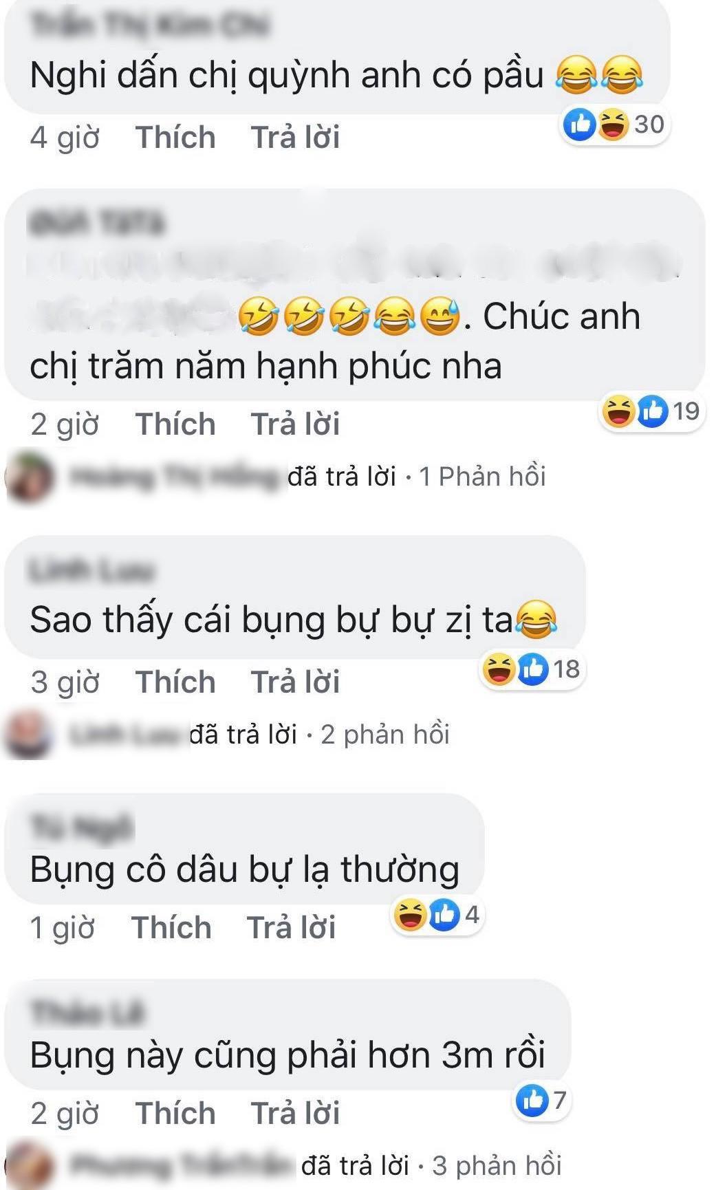 Mai Quỳnh Anh bị soi vòng 2 to bất thường trong đám cưới - Ảnh 4.