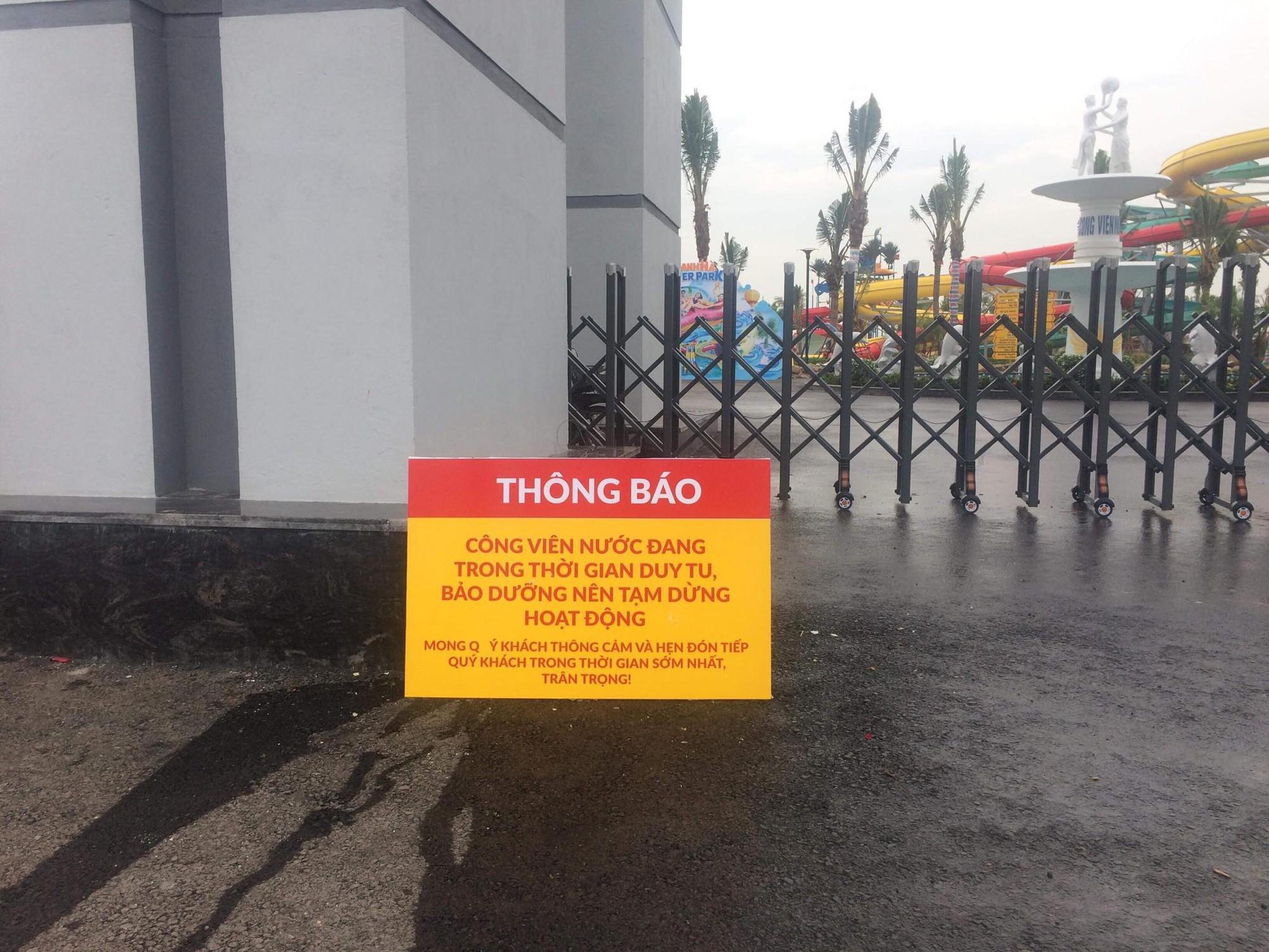 Công viên nước Thanh Hà tạm dừng hoạt động sau sự cố bé trai đuối nước - Ảnh 1.