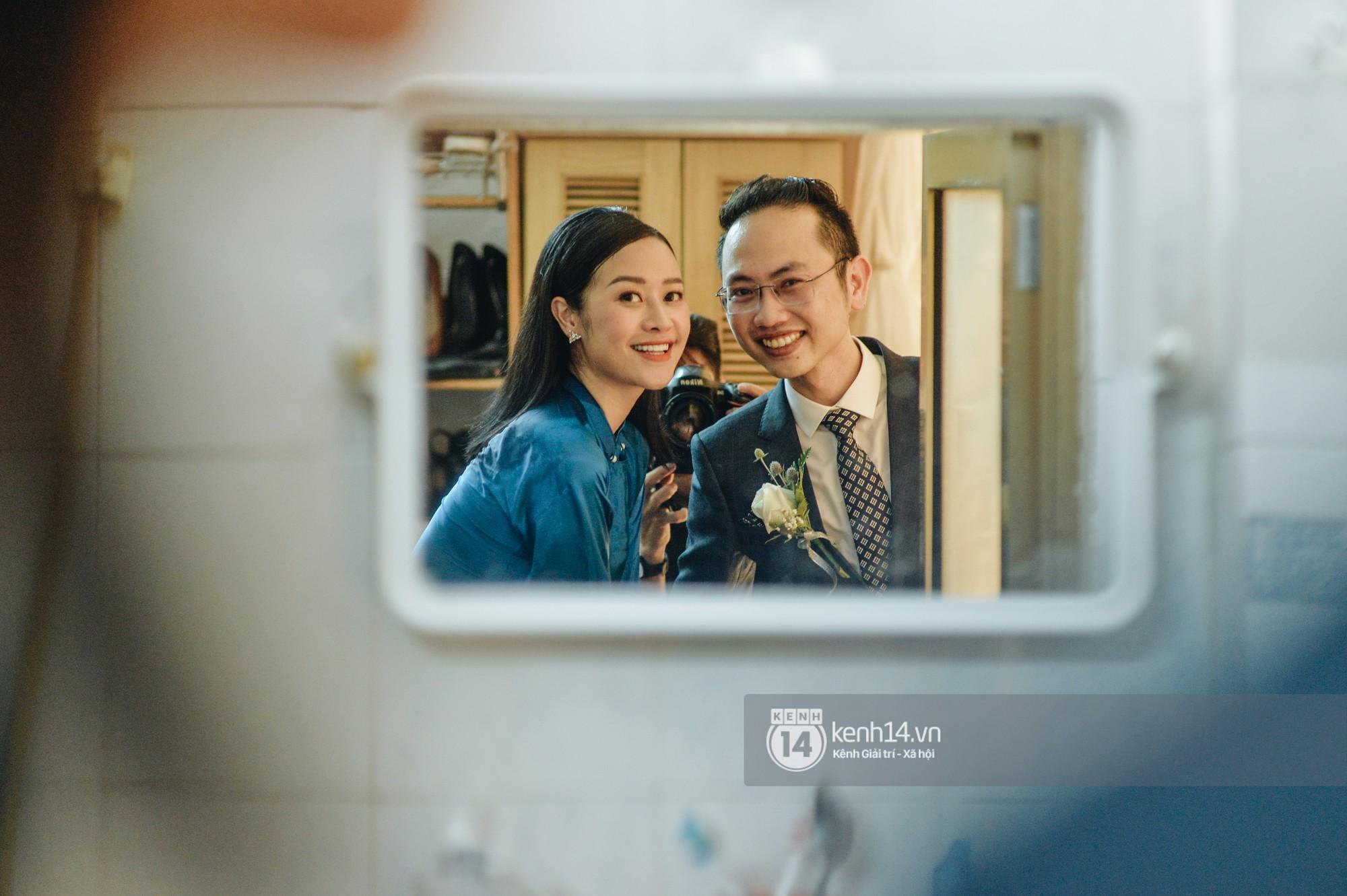 Ngắm MC Phí Linh đẹp nền nã khi diện 2 bộ áo dài trong lễ ăn hỏi với bạn trai đồng nghiệp - Ảnh 3.