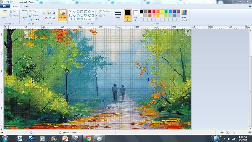 Họa sỹ vẽ tranh bằng Paint đỉnh như Photoshop, ai ngờ dân mạng thi nhau khoe hàng xịn không kém - Ảnh 3.