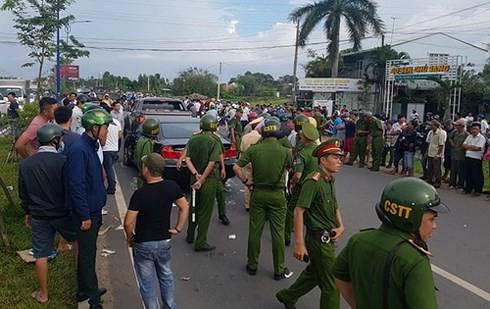 Bộ Công an vào cuộc vụ nhóm giang hồ chặn vây xe công an ở tỉnh Đồng Nai - Ảnh 3.
