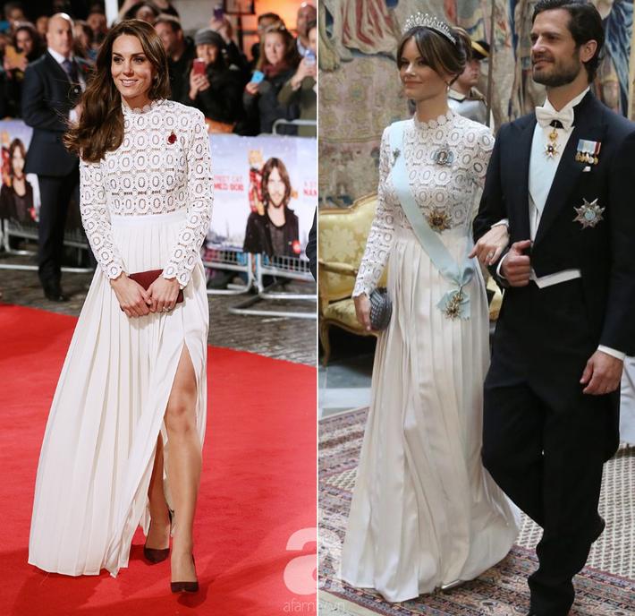 Hơn 3 tuổi nhưng công nương Kate Middleton sexy hơn hẳn công nương Sofia khi đụng váy - Ảnh 6.