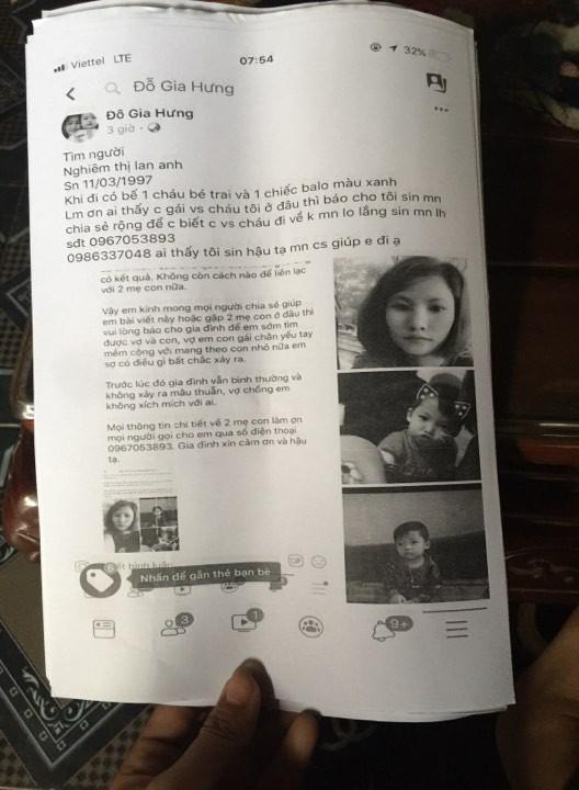 Bắc Ninh: Người vợ trẻ bế con trai gần 3 tuổi đi khỏi nhà, gia đình cầu cứu cộng đồng mạng giúp đỡ - Ảnh 2.