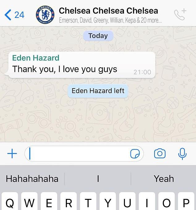 Khoảnh khắc nhói lòng: Cầu thủ Chelsea tiết lộ câu nói cuối cùng của ngôi sao Eden Hazard với đồng đội - Ảnh 1.