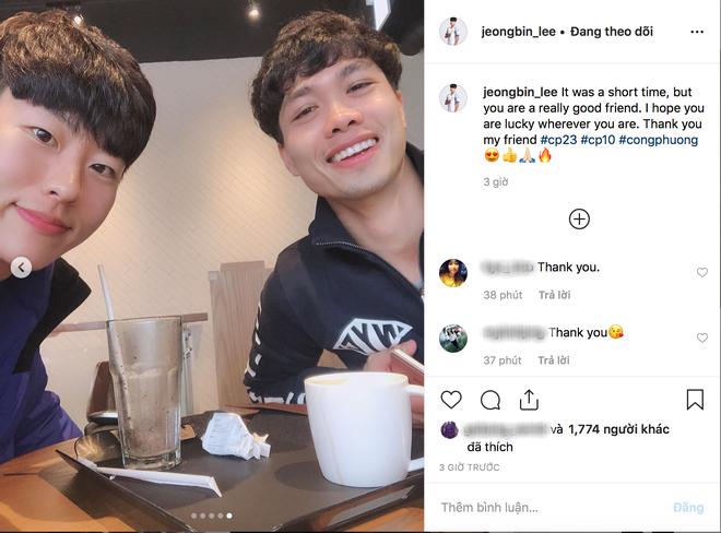 Hội bạn thân Incheon đăng ảnh chia tay Công Phượng cực tình cảm, anh chàng xúc động chỉ biết nói: Love you - Ảnh 1.