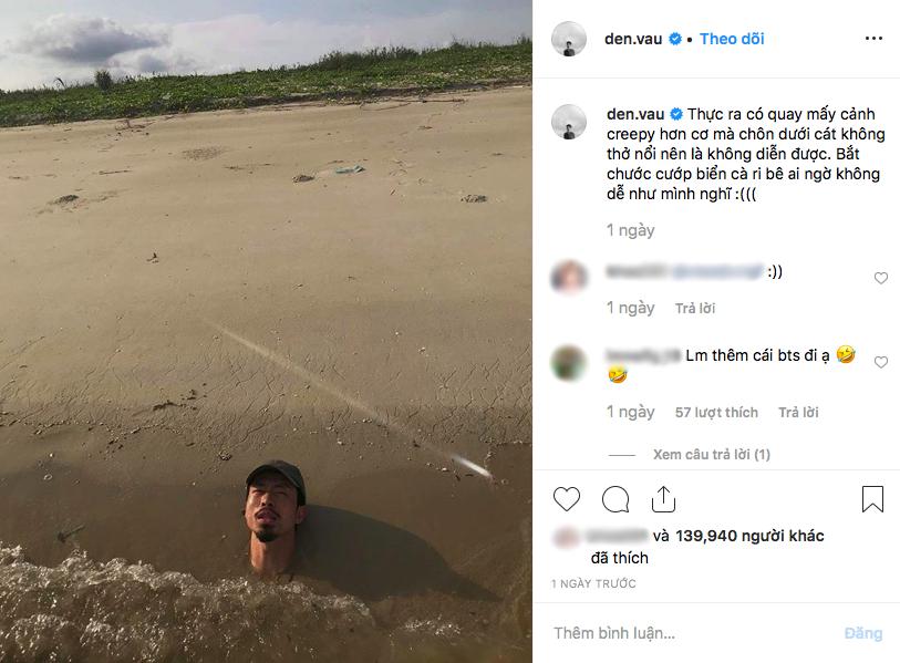 """Hé lộ cảnh """"chôn mình dưới cát"""" bị cắt trong MV mới, nhưng Đen Vâu khuyên fan đi biển tuyệt đối không nên làm theo vì lý do này - Ảnh 3."""