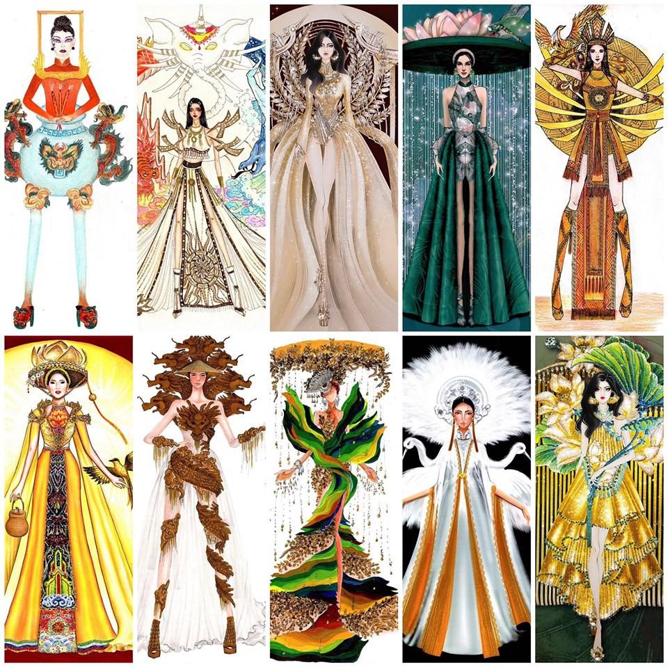 Top 10 bộ Quốc phục được chọn nhiều nhất cho Hoàng Thùy, bất ngờ với vị trí của bộ Bàn thờ - Ảnh 1.