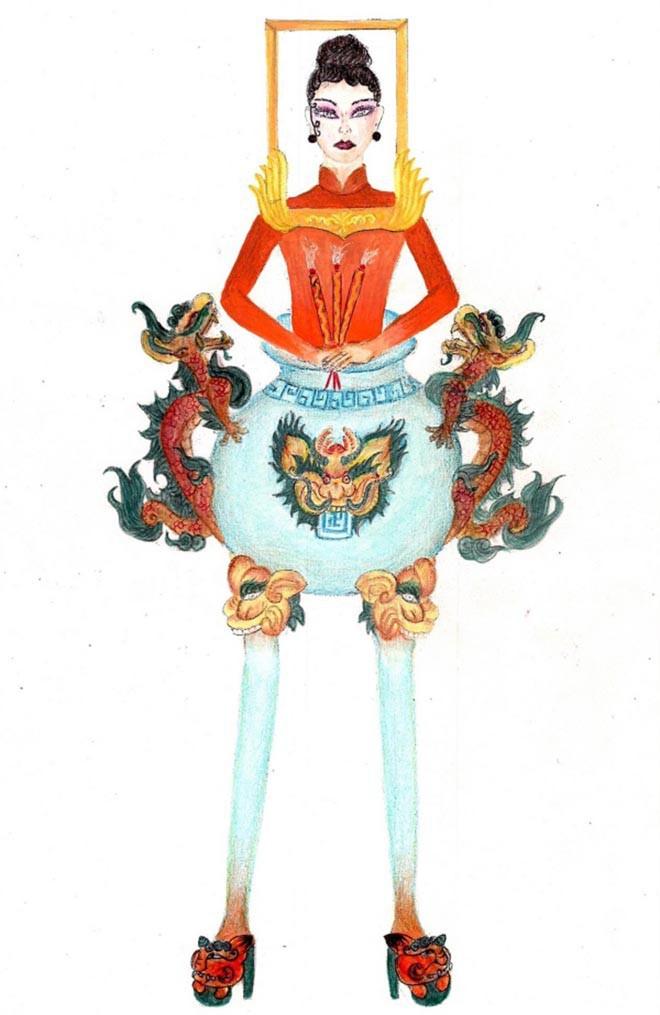 Top 10 bộ Quốc phục được chọn nhiều nhất cho Hoàng Thùy, bất ngờ với vị trí của bộ Bàn thờ - Ảnh 2.