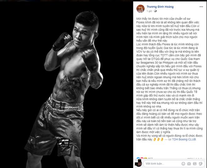 Bất ngờ được võ sư Flores mời giao đấu, nhà vô địch Trương Đình Hoàng có lời đáp nhận cơn mưa lời khen từ dân mạng - Ảnh 2.