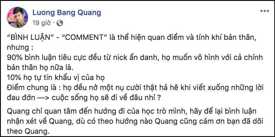 Bị tình cũ Ngân 98 tố ngoại tình tại nhà, Lương Bằng Quang liên tục có phản ứng gây tranh cãi - Ảnh 3.