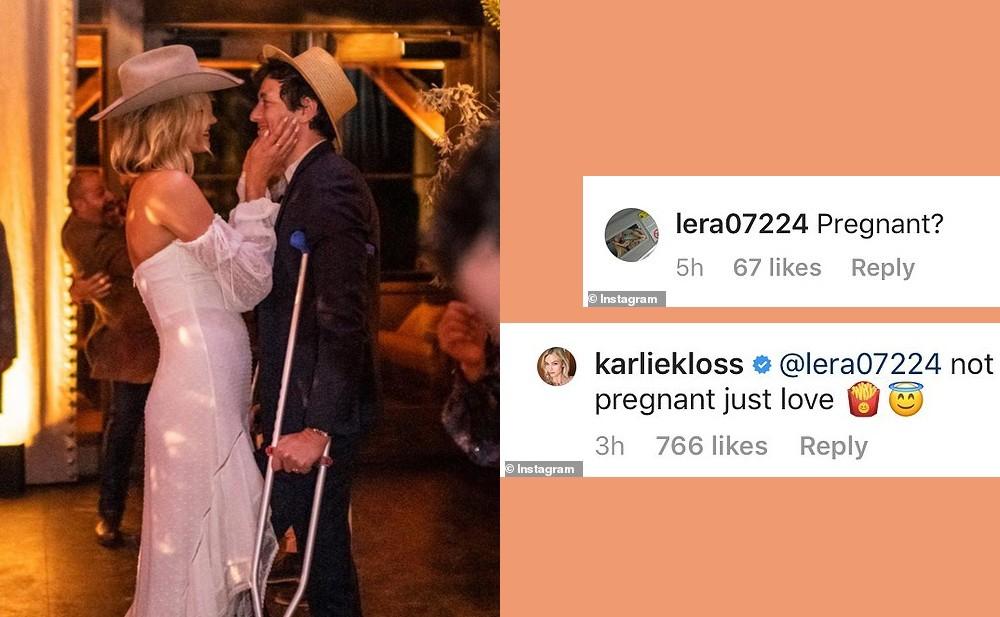 Bị nghi mang bầu chỉ vì diện váy ôm gây lộ bụng, siêu mẫu Karlie Kloss đáp trả: Chỉ là thích ăn khoai tây chiên thôi mà - Ảnh 3.