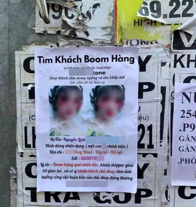 Tranh cãi chuyện cô gái bị in hình lên tờ rơi dán khắp Sài Gòn, chủ shop lên tiếng: Tức vì nhiều lần bị bom hàng nên làm vậy để răn đe! - Ảnh 1.