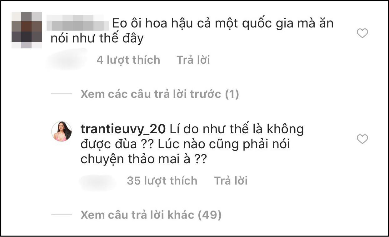 Mới đăng 2 câu thả thính đã bị antifan chấn chỉnh, Hoa hậu Tiểu Vy gây chú ý vì lần đầu phá lệ đáp trả cực gắt - Ảnh 2.