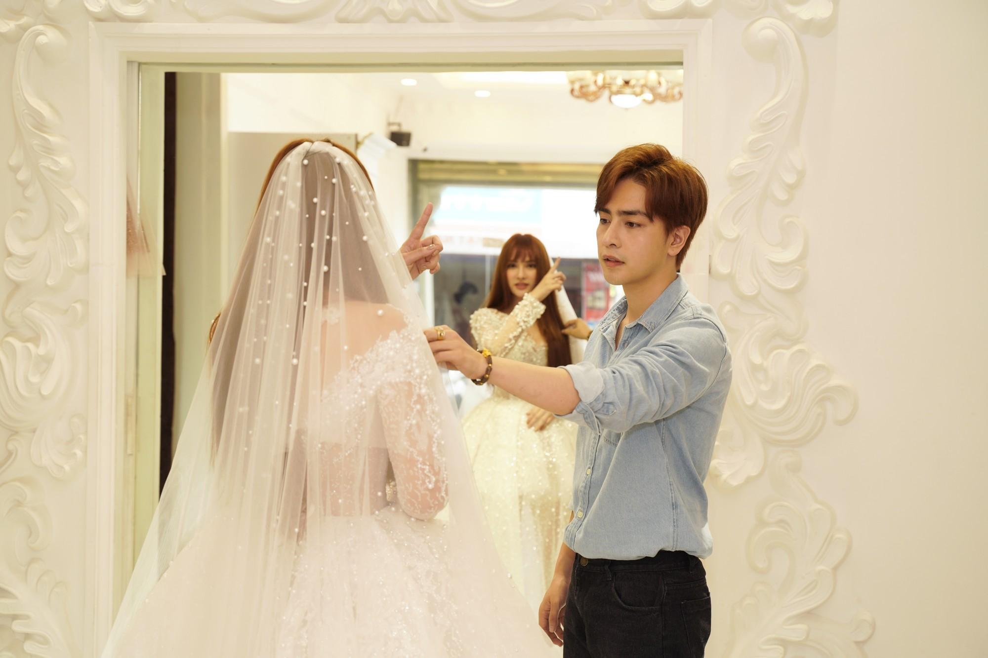 Thu Thủy chọn váy cưới rộng, khéo léo che chắn vòng 2 giữa tin đồn cưới chạy bầu - Ảnh 6.