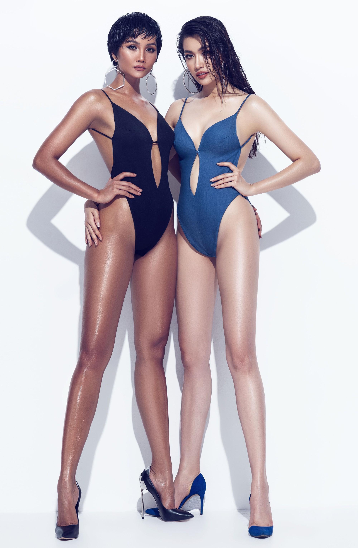 Đang bị đồn lọt Top 3 Cuộc đua kỳ thú, HHen Niê và Lệ Hằng đọ dáng cực nóng bỏng trong bộ ảnh bikini - Ảnh 3.