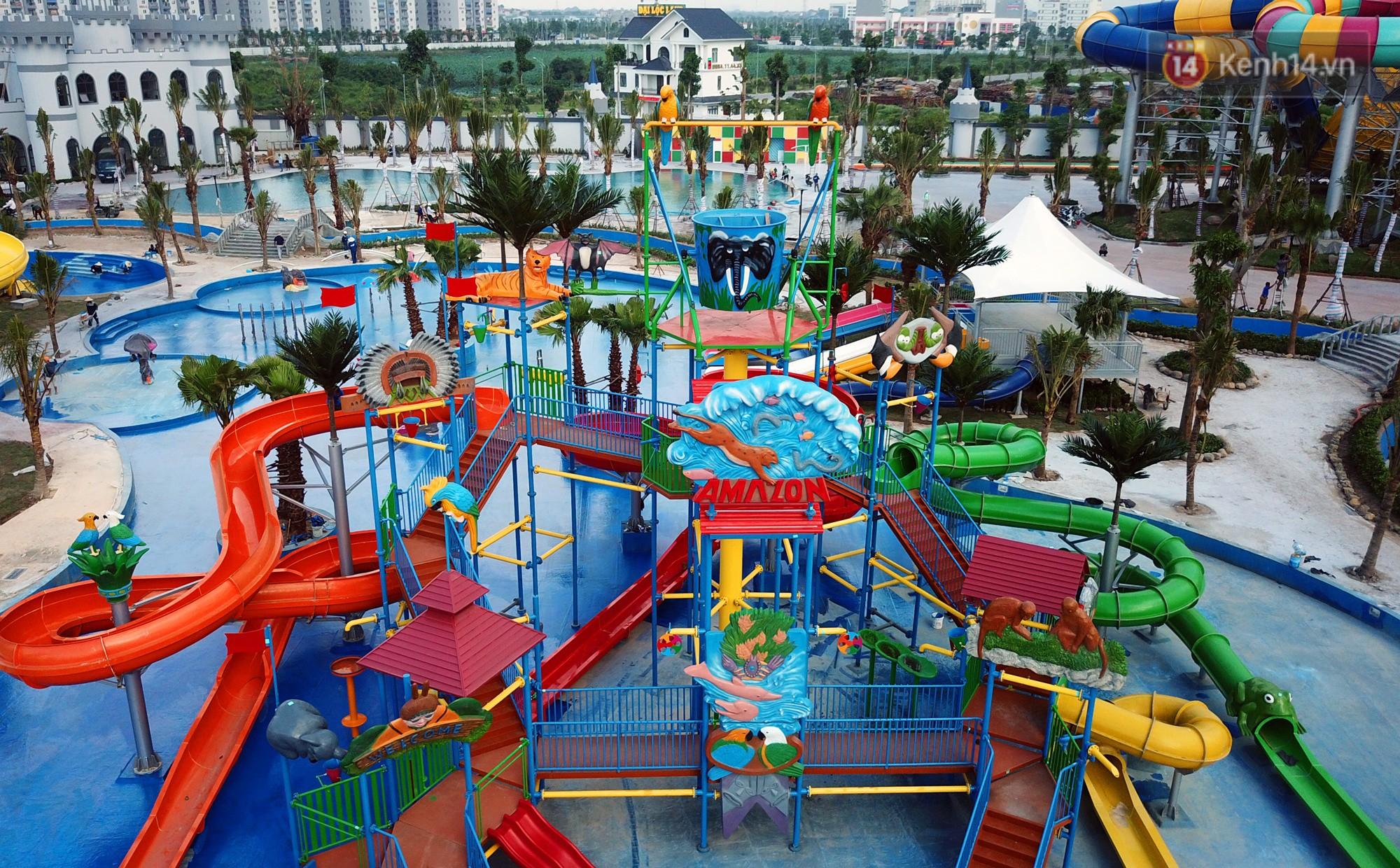 Cận cảnh công viên nước hiện đại nhất Thủ đô sắp được khai trương - Ảnh 6.