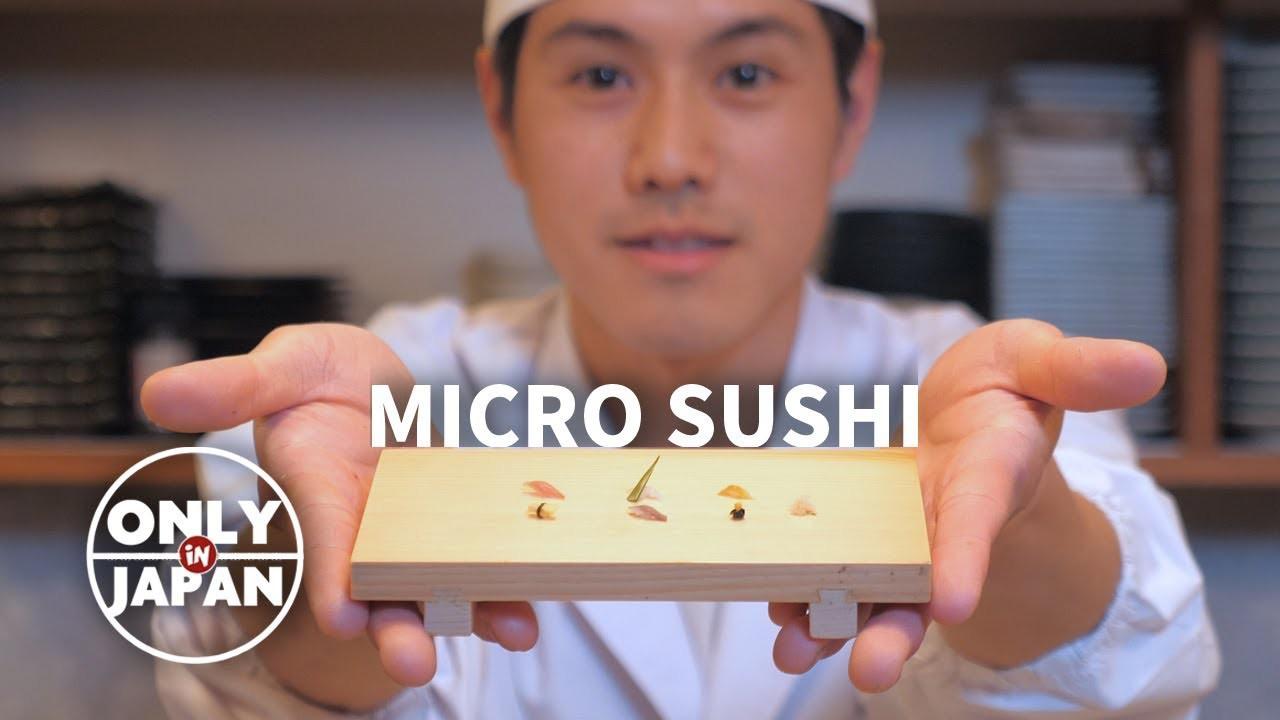 Không làm món khổng lồ như bà Tân, đầu bếp Nhật làm sushi bé tí như hạt gạo cũng đủ khiến người ta trầm trồ - Ảnh 2.
