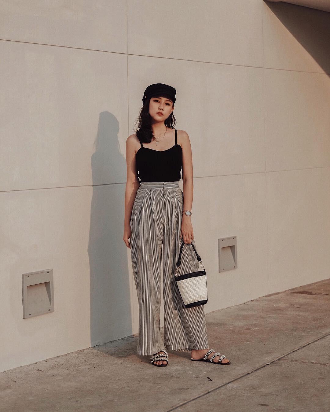 Diện quần ống rộng, bạn cứ mix với 4 kiểu áo sau là chắc cốp đẹp và sành điệu - Ảnh 5.