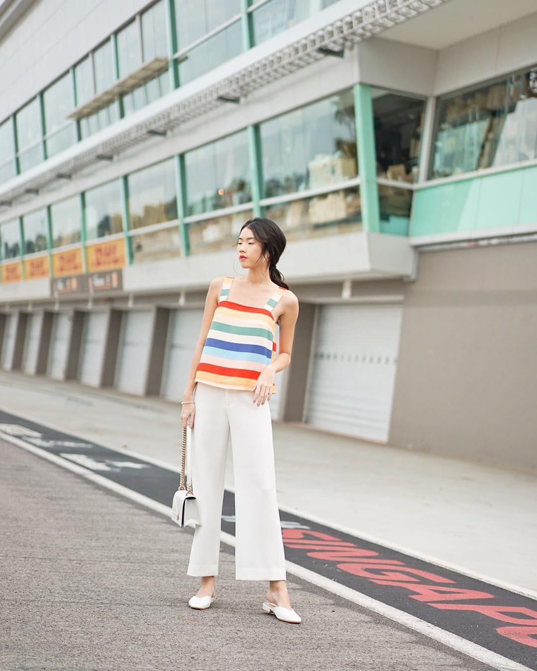 Diện quần ống rộng, bạn cứ mix với 4 kiểu áo sau là chắc cốp đẹp và sành điệu - Ảnh 7.