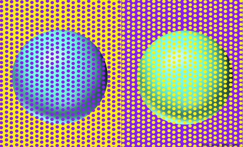 Bức hình gây lú nhất MXH hôm nay: Rõ ràng là một lam một xanh ngọc, thế mà hóa ra lại cùng một màu? - Ảnh 1.