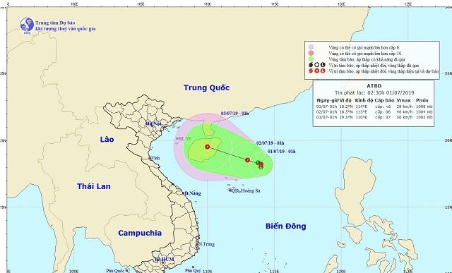 Nắng nóng chấm dứt ở miền Bắc, xuất hiện áp thấp trên biển Đông - Ảnh 1.