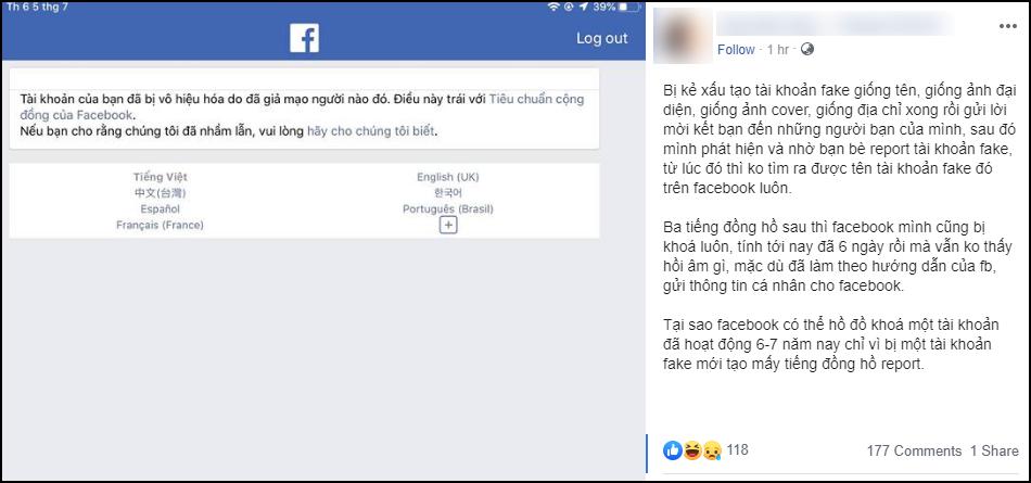 Vấn nạn Facebook chính chủ bị tài khoản nhái report ngược: Kẻ gian nhởn nhơ, nạn nhân bất lực không biết kêu ai - Ảnh 3.