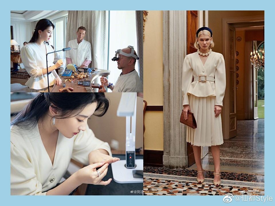 Cùng 1 chiếc áo: Lưu Diệc Phi khí chất như công nương hoàng gia, tới Jessica lại khác biệt hoàn toàn - Ảnh 3.