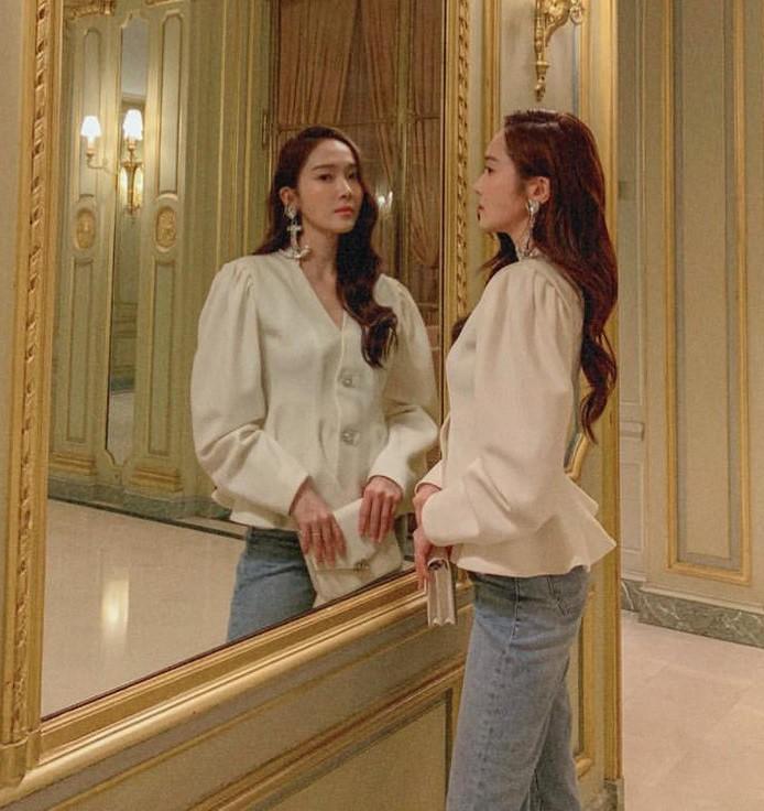 Cùng 1 chiếc áo: Lưu Diệc Phi khí chất như công nương hoàng gia, tới Jessica lại khác biệt hoàn toàn - Ảnh 6.