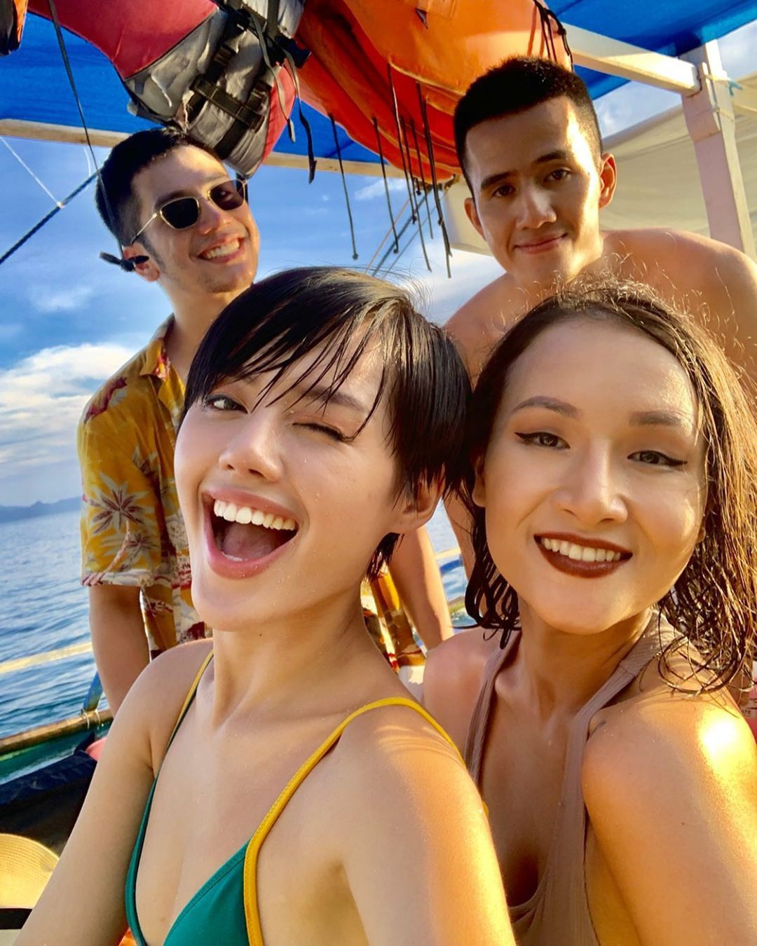 """Đã đến hòn đảo đẹp nhất Philippines là phải chơi """"tới bến"""" trò này như hội bạn thân vợ chồng Giang Ơi, Dino Vũ, Khánh Linh The Face - Ảnh 9."""