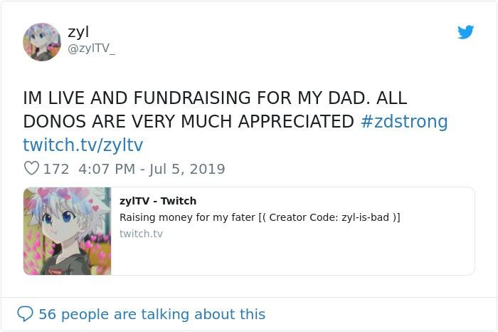 Game thủ nhí khiến cả thế giới cảm động: Stream game 10h/ngày để kiếm tiền chữa ung thư cho bố - Ảnh 1.