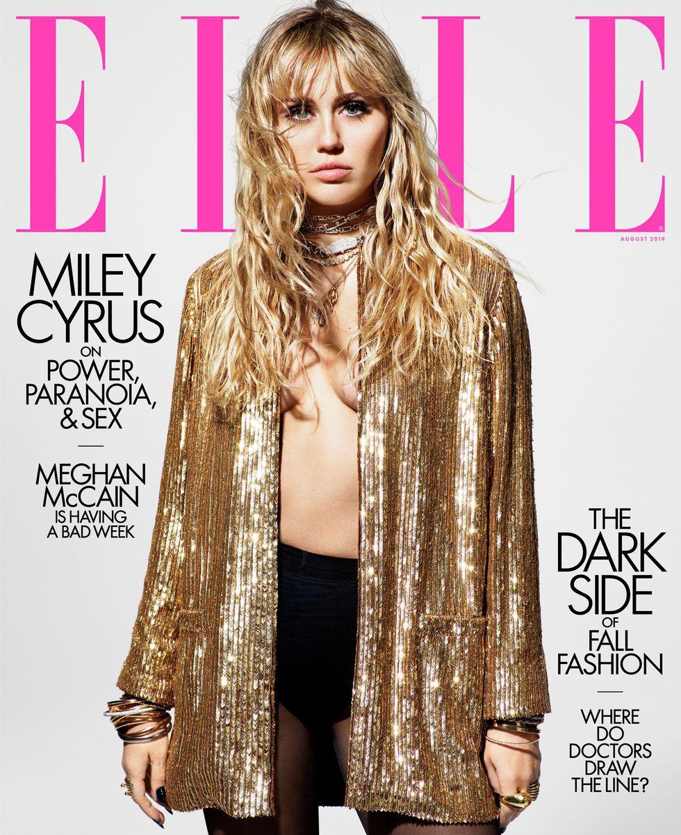 Loạt ảnh trên tạp chí Elle của Miley Cyrus gây bão mạnh: Thần thái đỉnh miễn bàn cũng không hút mắt bằng body cực phẩm - Ảnh 1.