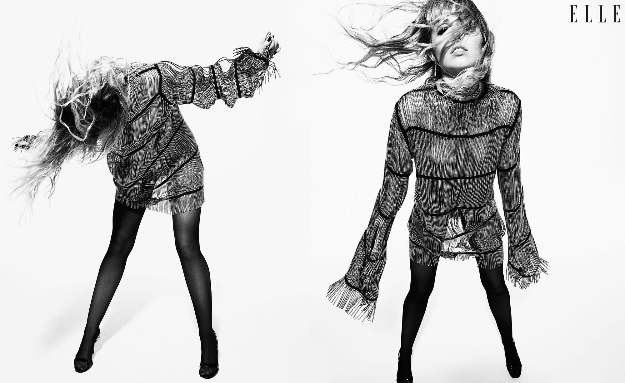 Loạt ảnh trên tạp chí Elle của Miley Cyrus gây bão mạnh: Thần thái đỉnh miễn bàn cũng không hút mắt bằng body đỉnh cao - Ảnh 7.