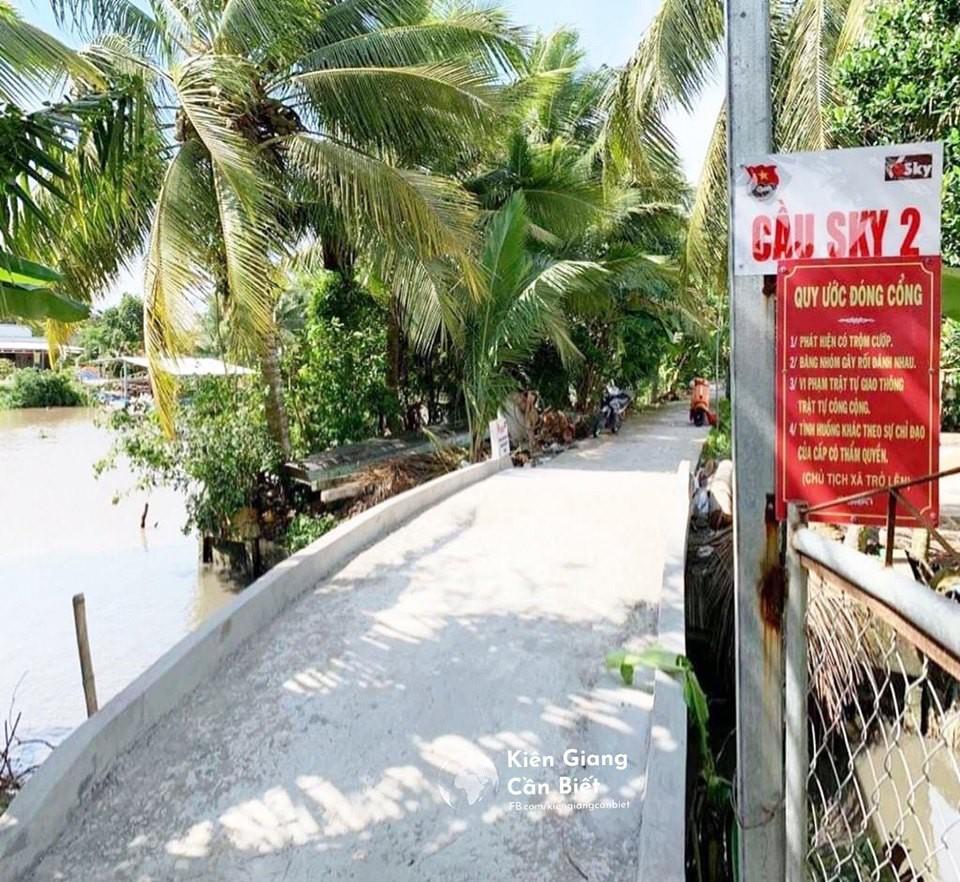 Cộng đồng fan ca sĩ Sơn Tùng M-TP tài trợ tiền xây cầu tại Kiên Giang, đặt tên là Sky 2 - Ảnh 2.