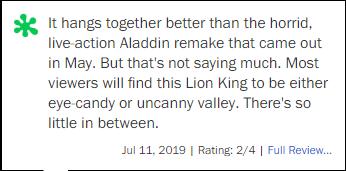 Khán giả chia phe đánh nhau sau suất chiếu sớm The Lion King: Kĩ xảo đỉnh cỡ nào cũng không thay hoạt hình thuần tuý! - Ảnh 8.
