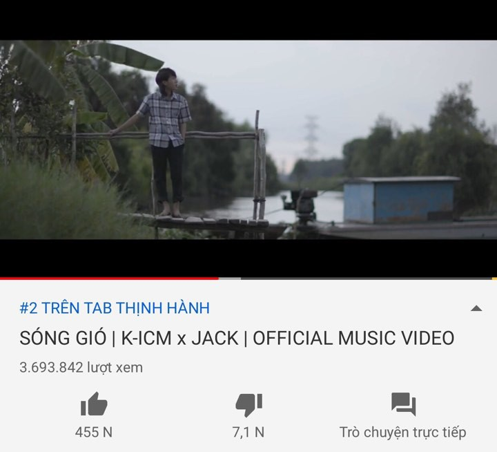 Jack và K-ICM tiếp tục gây Sóng Gió Vpop: lượt xem trực tuyến kỷ lục thứ 4 thế giới vượt idol nhà SM, 12 tiếng 4 triệu views, #2 trending đứng sau Hãy Trao Cho Anh - Ảnh 1.