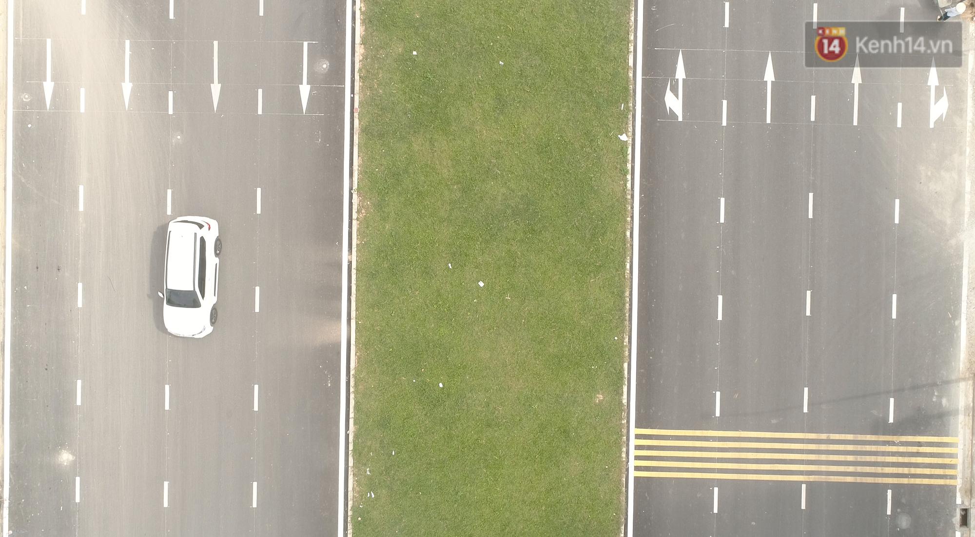 Clip, ảnh: Toàn cảnh tuyến đường mới với 8 làn xe, mạch xương sống nối liền 3 quận ở Hà Nội - Ảnh 6.