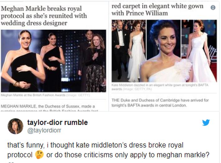 """Không ngừng bị chỉ trích về trang phục như """"tát nước vào mặt"""", Meghan Markle phải chịu bất công quá lớn so với công nương Kate - Ảnh 4."""