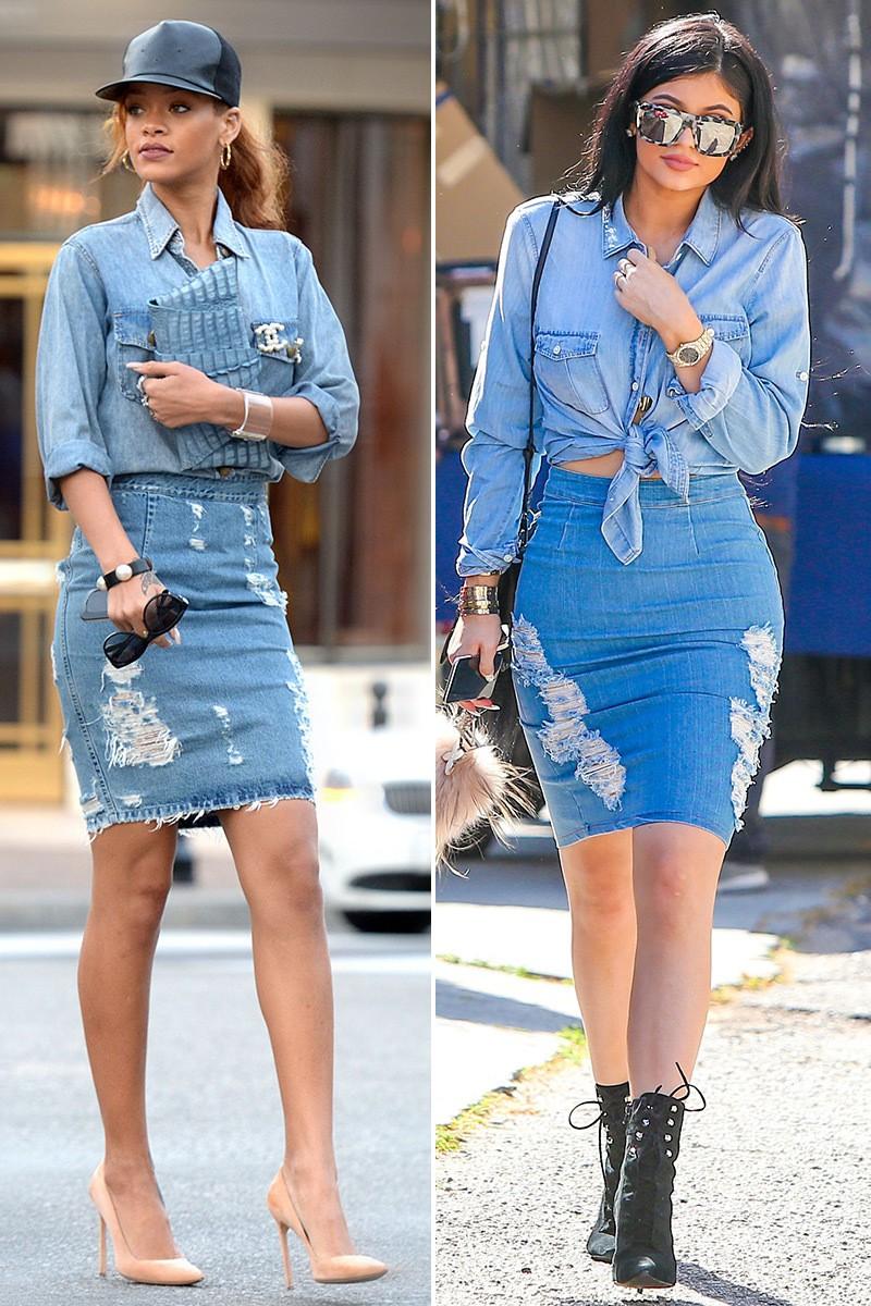 Là vô tình đụng hàng hay Kylie Jenner cố tình cosplay Rihanna? - Ảnh 3.