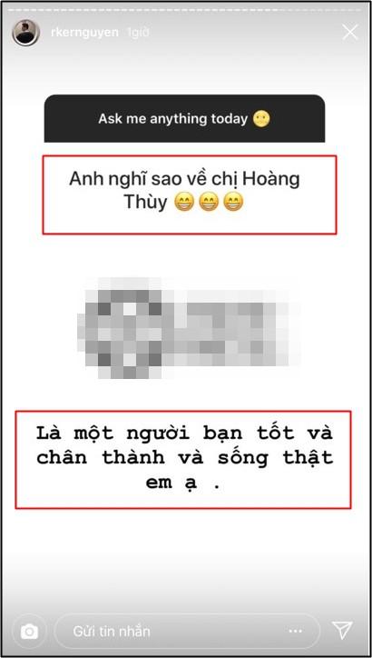 Rocker Nguyễn lên tiếng khẳng định mối quan hệ với Hoàng Thùy giữa tin đồn cả hai đang bí mật hẹn hò? - Ảnh 1.