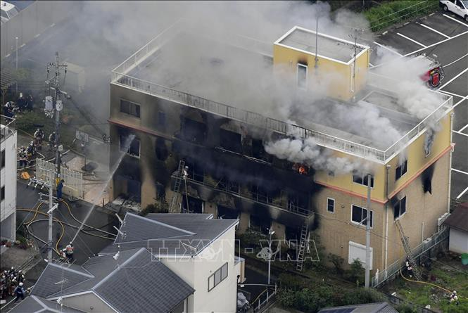 Vụ cháy xưởng phim ở Nhật Bản: Con số thiệt mạng tăng lên 24 người - Ảnh 1.