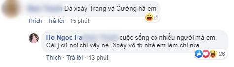 Bị netizen nghi ngờ đá xoáy Cường Đô La và Đàm Thu Trang khi đăng dòng trạng thái đầy ẩn ý, Hồ Ngọc Hà thẳng thắn đáp trả - Ảnh 2.