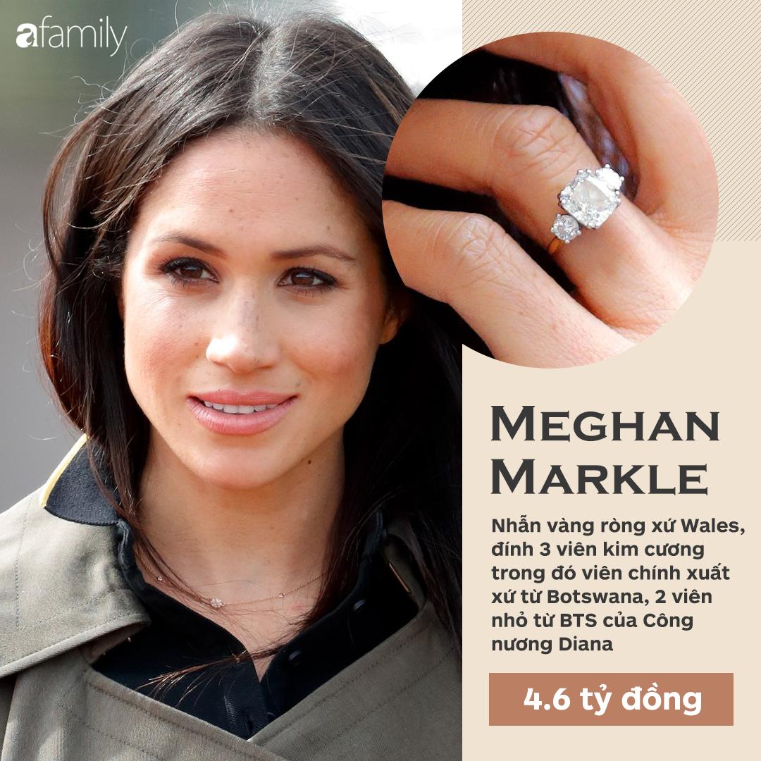 Choáng cực độ với 20 chiếc nhẫn đính hôn đắt bậc nhất hành tinh, bất ngờ là nhẫn của chị em dâu Kate - Meghan - Ảnh 1.