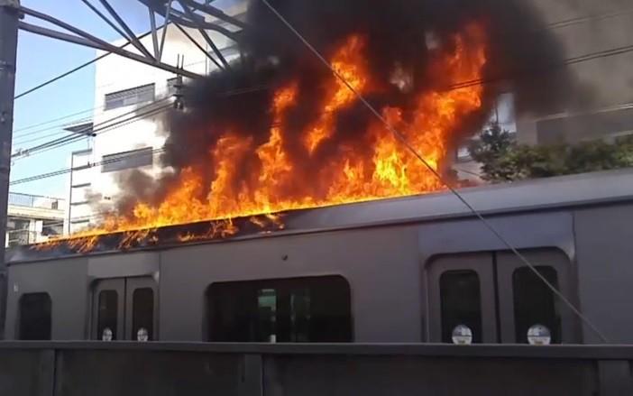 Nhật Bản lại xảy ra hỏa hoạn, hàng loạt tuyến đường sắt bị đình trệ - Ảnh 1.