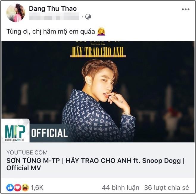 Trời ơi, tin được không? đến Hoa hậu Đặng Thu Thảo, Thu Trang cũng gia nhập hội fangirl của Sơn Tùng M-TP rồi này! - Ảnh 1.