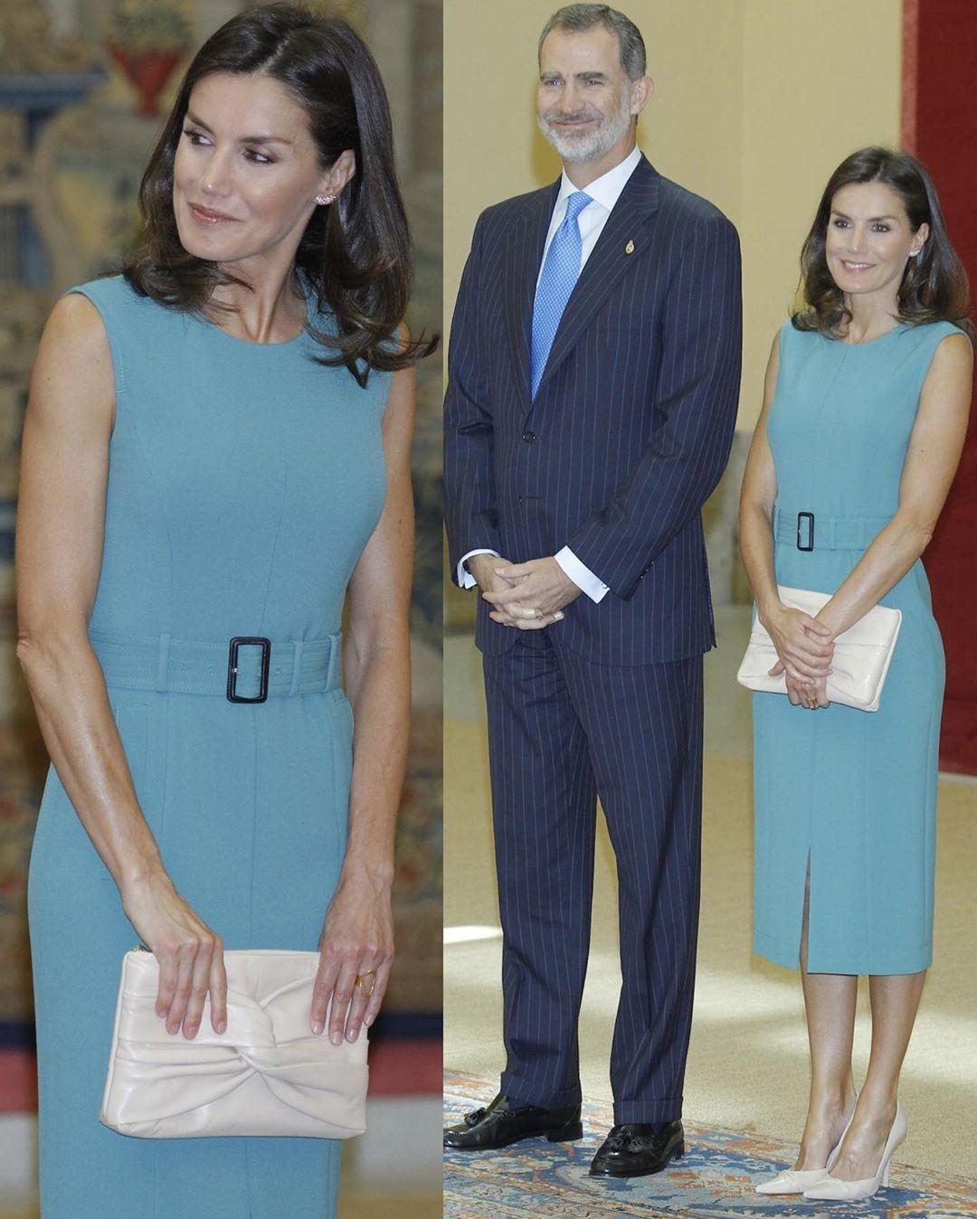 Sở hữu cánh tay săn chắc lực điền nhưng Hoàng hậu Tây Ban Nha lại được khen ngợi hết lời khi diện váy áo sát nách - Ảnh 7.