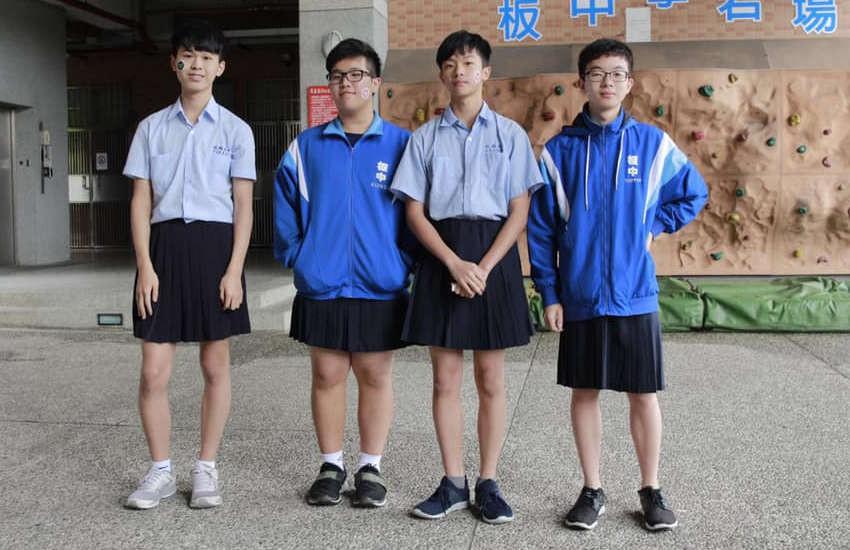 Trường trung học ở Đài Loan lần đầu tiên cho phép nam sinh mặc váy đi học - Ảnh 2.