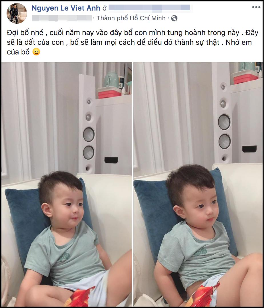 """Việt Anh vừa có ý định đưa con trai vào Sài Gòn sinh sống, vợ cũ lập tức lên tiếng: """"Chẳng có ai thay thế mẹ làm điều đó"""" - Ảnh 1."""